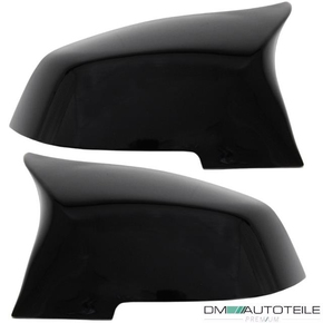SET Black Gloss Side Mirror Cover fits BMW F20 F22 M2 F30...