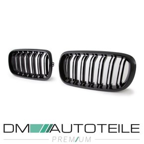 2x Set Front Grille black gloss Dual Slats fits on BMW X5...