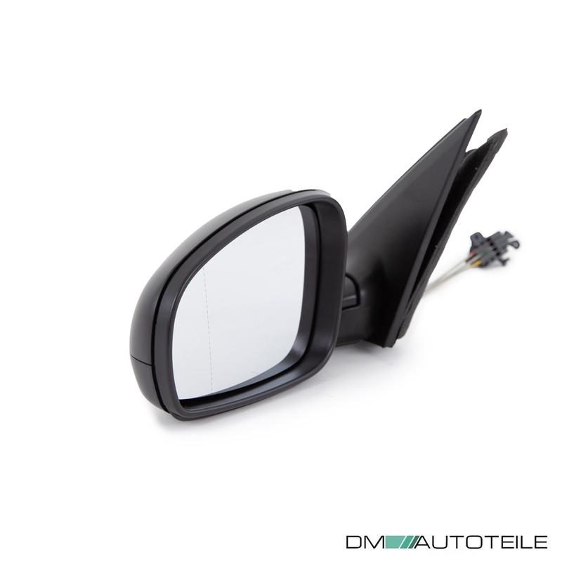 asphärisch glasklar schwarz passt für Skoda Roomster Außenspiegel links kpl