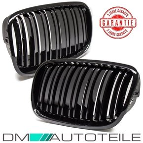 Set  Front Grille black gloss Dual Slats fits on BMW X5...