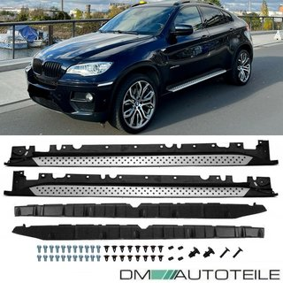 SET Aluminium Running Board Side Steps +Accessoires fits on BMW X6 E71 E72 08-14