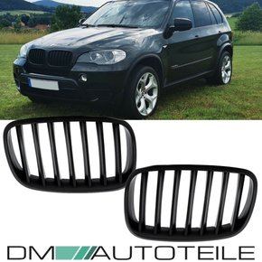 Set Front Grille black Matt fits on BMW X5 E70 06-13 +...