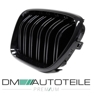 Set Dual Slat Front Grille black Gloss painted BMW X3 F25 10-14