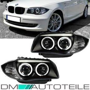 Set CCFL headlights black 04-11 fits on BMW 1-Series E81...