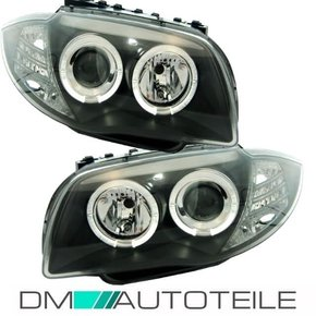 Set Angel Eyes headlights black 04-11 DEPO H7/H7 fits on...