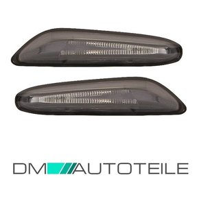 SET Side Indicator LED PAIR Smoke Black NEW fits on E90...