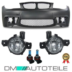 Sport Front Bumper w/o PDC+GRILLE+Fogs CHROME fits on BMW...