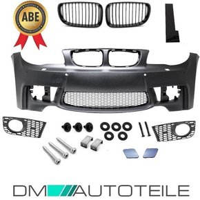 Sport Front Bumper ABS for PDC +2x GRILLE Black fits on...