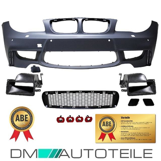Sport Evo Front Bumper ABS for PDC +2x Air Ducts fits on BMW E81 E82 E87 E88