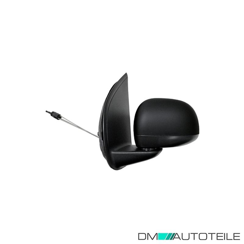 DM Autoteile Au/ßenspiegel rechts komplett konvex mit Kabel mit Sensor schwarz passt f/ür Panda ab 12