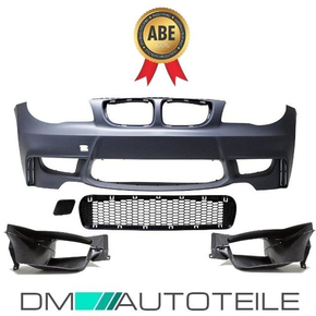 Sport Front Bumper ABS w/o PDC +2x Air Ducts fits on BMW...