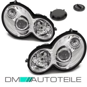 Mercedes C203 Sport coupe clear glass headlights 01-04...