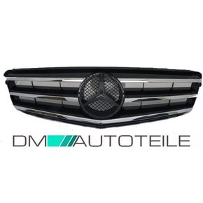 Mercedes W204 Front Grille without emblem in chrome black...