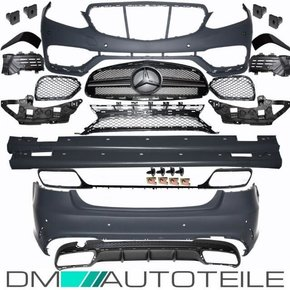 Mercedes W212 Facelift Front rear Bumper Side Skirts +...